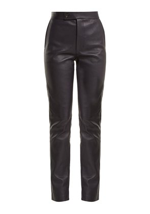 Leather suit trousers