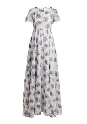 In The Hills floral-jacquard dress