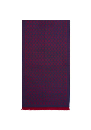 Gucci Purple & Red Wool GG Scarf