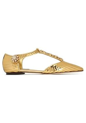 Dolce & Gabbana Woman Pointed-toe Flats Gold Size 37