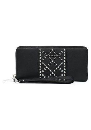 Michael Michael Kors Woman Embellished Textured-leather Wallet Black Size -