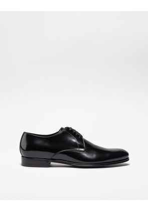 Dolce & Gabbana Lace-Ups - BRUSHED LEATHER DERBY SHOES BLACK