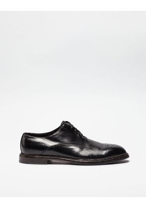 Dolce & Gabbana Lace-Ups - COLOUR DIPPED LEATHER OXFORDS BLACK