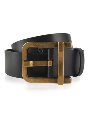 DOLCE AND GABBANA Leather Keeper Belt