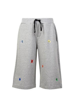 LANVIN Children Boys Lettered Jersey Shorts