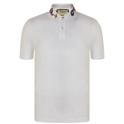 eda6144d2efd GUCCI Snake Embroidered Polo Shirt   MILANSTYLE.COM