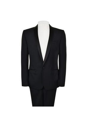 DOLCE AND GABBANA Satin Trim Two Piece Suit