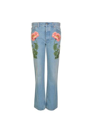 GUCCI Embroidered Flared Jeans