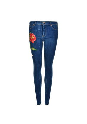 GUCCI Floral Embroidered Jeans