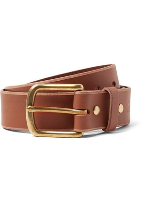 4cm Brown Standard Leather Belt