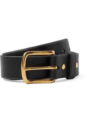 4cm Black Standard Leather Belt