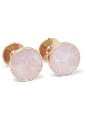 Alice Made This - Bayley Gold-tone Salmon Patina Cufflinks - Gold