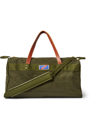 Best Made Company - Leather-trimmed Canvas Holdall - Army green