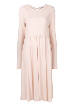 Jil Sander flared dress - Pink & Purple