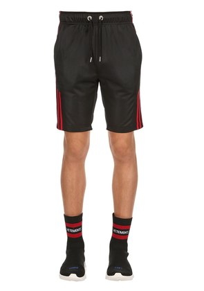 LOGO BANDS TECHNO TRICOT TRACK SHORTS