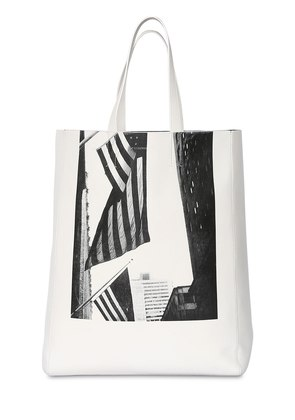 AMERICAN FLAG NAPPA LEATHER TOTE BAG