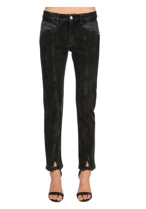 WASHED STRETCH DENIM PANTS