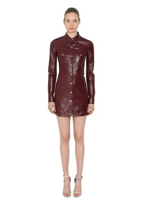 PATENT LEATHER MINI DRESS