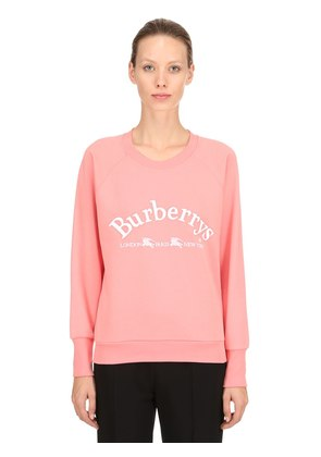 LOGO PRINTED COTTON JERSEY SWEATSHIRT