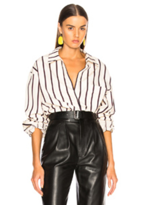 Isabel Marant Venice Shirt in Neutrals,Stripe