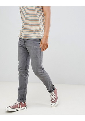 Pull&Bear Regular Slim Fit Comfort Jeans In Grey - Light grey