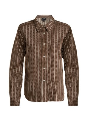Mike cotton and silk-blend shirt