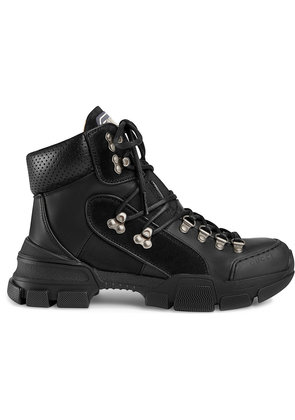 Gucci Leather and canvas trekking boot - Black