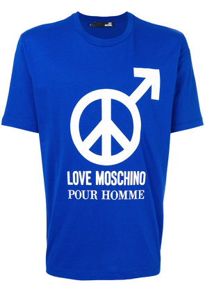 Love Moschino pour homme print T-shirt - Blue