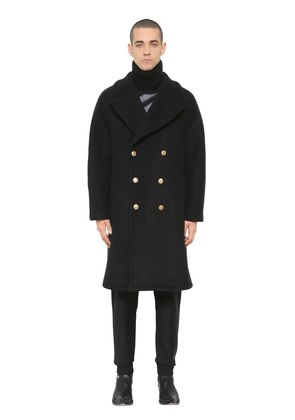 OVERSIZE HEAVY WOOL BLEND FELT COAT