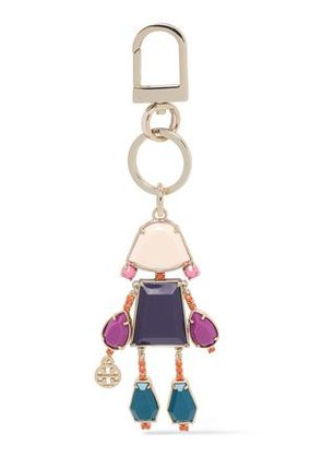 Tory Burch Woman Gem Girl Gold-tone Resin Keychain Gold Size -