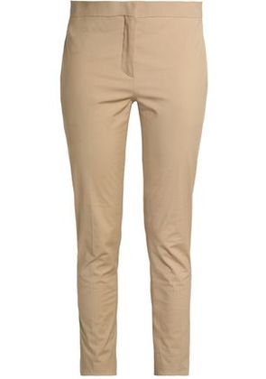 Valentino Woman Stretch-cotton Tapered Pants Beige Size 6