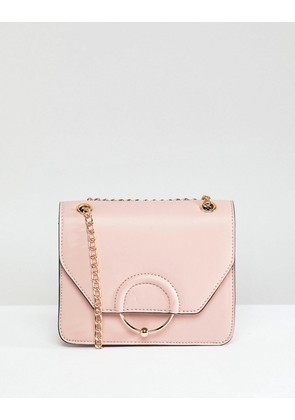 ASOS DESIGN Ring And Ball Cross Body Bag With Chain Strap - Pink