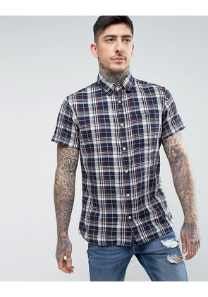 Jack & Jones Vintage Short Sleeve Check Shirt - Total eclipse