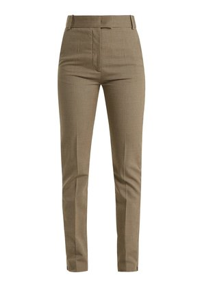 Reeve houndstooth straight-leg trousers