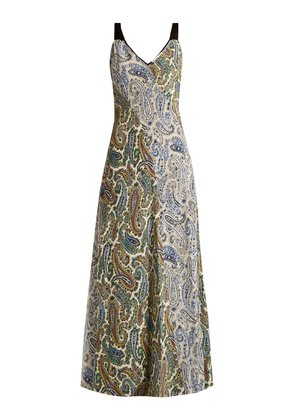 Barton paisley-print silk dress