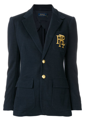 Polo Ralph Lauren embroidered single breasted blazer - Blue