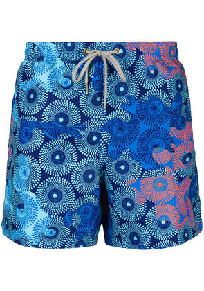 Okun Ali printed swim shorts - Blue
