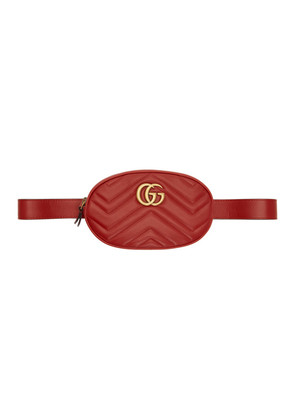 Gucci Red GG Marmont 2.0 Belt Bag