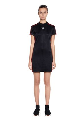 AW LOGO JACQUARD TRACK MINI DRESS
