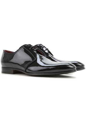 Dolce & Gabbana Lace Up Shoes for Men Oxfords, Derbies and Brogues On Sale, Black, Patent Leather, 2017, 10.5 5.5