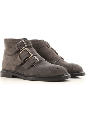 Dolce & Gabbana Boots for Men, Booties On Sale, Grey, Suede leather, 2017, 5.5 6.5 7 7.5 8 8.5 9 9.5