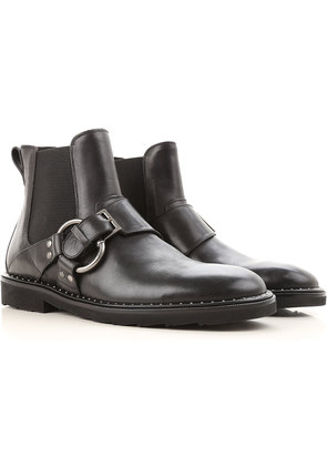 Dolce & Gabbana Boots for Men, Booties On Sale, Black, Leather, 2017, 7.5 8 9