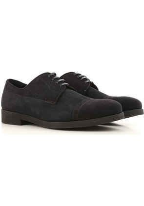 Dolce & Gabbana Lace Up Shoes for Men Oxfords, Derbies and Brogues On Sale, Black, suede, 2017, 5.5 7.5 9.5