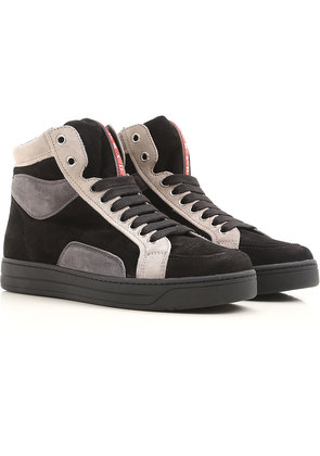Sneakers for Women On Sale in Outlet, Black, Suede leather, 2017, 2.5 3.5 Prada