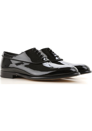 Fabi Lace Up Shoes for Men Oxfords, Derbies and Brogues On Sale, Black, Patent Leather, 2017, 10 7 9