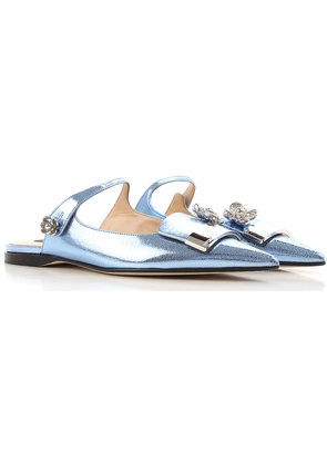 Sandals for Women On Sale, Laguna Blue, Patent Leather, 2017, 4.5 6 Sergio Rossi