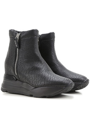 Sneakers for Women On Sale in Outlet, Black, Leather, 2017, 3.5 Ruco Line