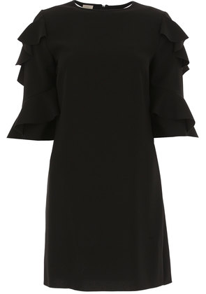 Dress for Women, Evening Cocktail Party On Sale in Outlet, Black, polyester, 2017, 12 Pinko