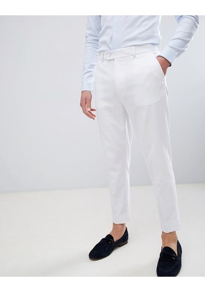ASOS DESIGN Tapered Smart Trousers In White - White