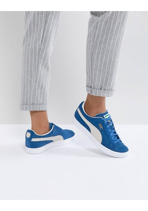 Puma Suede Trainers In Blue - Blue